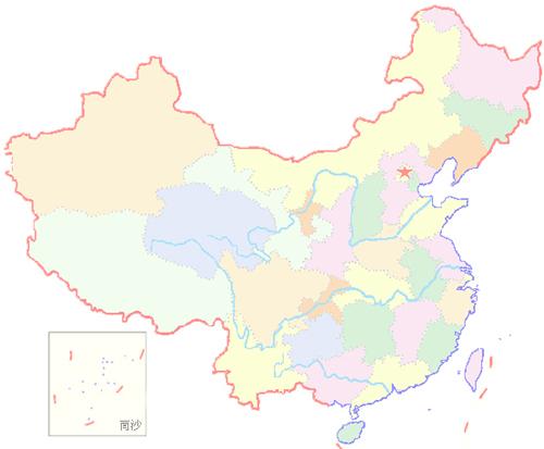 中国地图全图各省